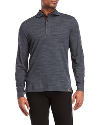 Thaddeus | Space-dye Long Sleeve Polo | Lyst
