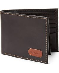 41297727 Tommy Hilfiger Brown Barrington Trifold Wallet in Brown for Men - Lyst