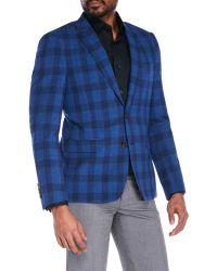 1 Like No Other - Wool Blend Plaid Sport Coat - Lyst