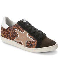 Freebird by Steven - Leopard-Print Distressed Low Top Sneakers - Lyst