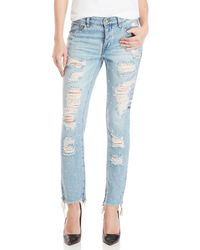 William Rast - My Ex's Distressed Pearl Jeans - Lyst