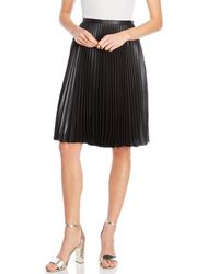 Karen Millen - Wet-look Accordion Pleated Midi Skirt - Lyst