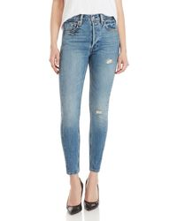 Levi's - Altered 501 High-rise Skinny Jeans - Lyst