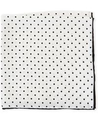 Imperial | Silk Dot Pocket Square | Lyst