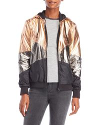 Scotch & Soda | Metallic Mesh Bomber Jacket | Lyst