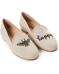 Jon Josef - Natural Bee Happy Linen Loafers - Lyst