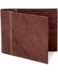 Isaac Mizrahi New York | Leather Passcase Wallet | Lyst