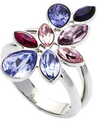 Swarovski - Silver-Tone & Purple Ring - Lyst