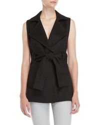 Adria Moss - Double Face Belted Vest - Lyst