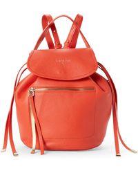 Patrizia Pepe - Dark Orange Leather Backpack - Lyst