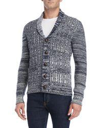 Barque - Shawl Collar Marled Wool Cardigan - Lyst