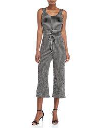 Love Tree - Striped Corset Jumpsuit - Lyst