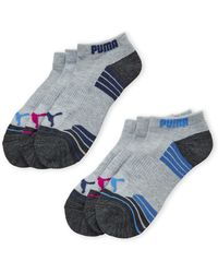 617e039d8afd Lyst - Puma Bamboo Women s Liner Socks (3 Pack) in Pink