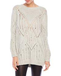 Laura Siegel - Oversized Peek-A-Boo Knit Sweater - Lyst