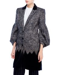 Pascal Millet - Tweed & Velvet Coat - Lyst