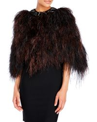 Pascal Millet - Embellished Feather Cape - Lyst