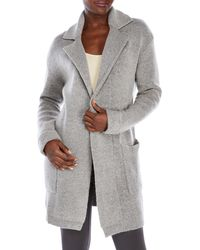 Lush - Sweater Jacket With Notched Lapel - Lyst