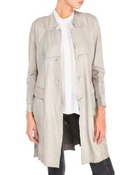 Transit - Patched Leather Trench - Lyst