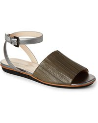 Fabiana Filippi - Claire Pleated Leather Ankle Strap Sandals - Lyst