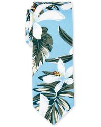 Original Penguin - Tropical Floral Slim Tie - Lyst