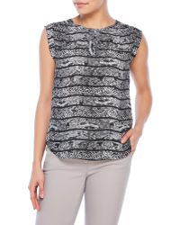 Violet & Claire - Keyhole Printed Tank - Lyst