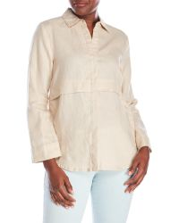 Symple NYC - Button-Up Linen Tunic - Lyst