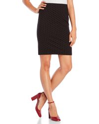 Premise Studio - Slim Skirt With Textured Dots - Lyst