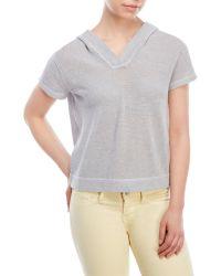 Vkoo - Hooded Short Sleeve Sweater - Lyst