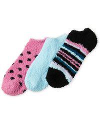 Ellen Tracy - 3-pack Cozy Ankle Socks - Lyst