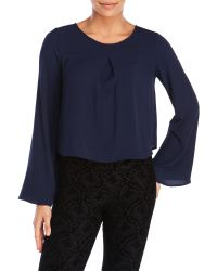 Tyche - Bell Sleeve Cropped Blouse - Lyst