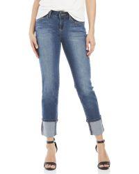 Earl Jean - Straight Wide Cuff Jeans - Lyst