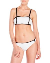 Jimmy Choo - Textured Bandeau Bikini - Lyst