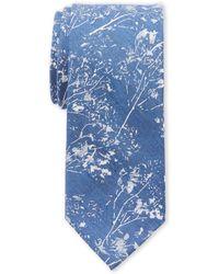 Calvin Klein - Navy Rose Garden Slim Tie - Lyst