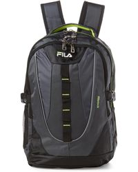 Fila - Grey & Neon Ryder Laptop Backpack - Lyst