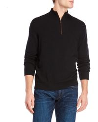 Forte - Mock Neck Quarter-zip Cashmere Sweater - Lyst