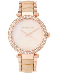 a6f6b5d95d8b Michael Kors - Mk6492 Rose Gold-tone Parker Watch - Lyst