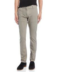 GAUDI - Micro Print Mid-rise Slim Fit Pants - Lyst