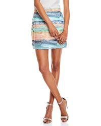 Waverly Grey - Stripe Mini Skirt - Lyst