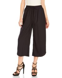 She + Sky - Woven Drawstring Culottes - Lyst