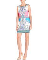 Peach Puff - Printed Scuba Dress - Lyst