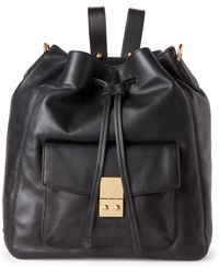 Cole Haan - Black Alanna Convertible Leather Backpack - Lyst