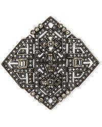 Heidi Daus - Artful Sophistication Crystal Deco Pin - Lyst