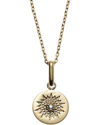 Anzie | 14K Gold Milly Diamond Sun Pendant Necklace | Lyst