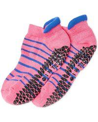 Pointe Studio - Donna Striped Grip Ankle Socks - Lyst