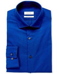 CALVIN KLEIN 205W39NYC - Ultra Blue Extreme Slim Fit Dress Shirt - Lyst