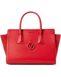 Valentino By Mario Valentino - Goji Berry Kiria Leather Satchel - Lyst