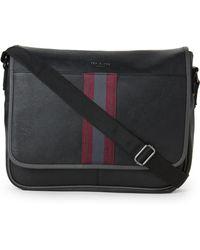 Ted Baker - Web Leather Messenger Bag - Lyst