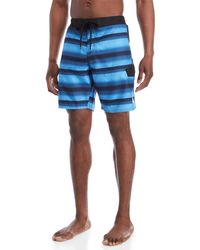 adidas - Tech Stripe Swim Trunks - Lyst