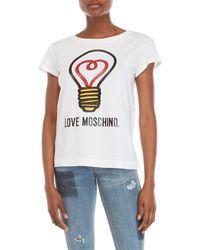 Love Moschino - Graphic Logo Tee - Lyst