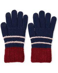 Steve Madden   Chevron Block Itouch Gloves   Lyst
